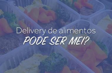 Delivery de Alimentos pode ser MEI
